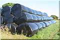 SW7114 : Silage bales at Prazegooth by Rod Allday