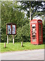 TM2351 : Burgh Village Notice Board &amp; Telephone Box by Adrian Cable