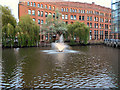 SJ8397 : Bridgewater Canal Basin and Fountain by David Dixon