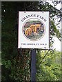 TM3677 : Grange Farm sign by Adrian Cable