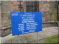 SJ7066 : St Michael and All Saints Church, Middlewich, Sign by Alexander P Kapp