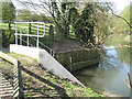 SP3065 : Concrete outfall and wicker bank retention  by Robin Stott