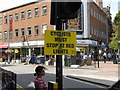 TQ1780 : &quot;Cyclists must stop at red lights&quot; notice by David Hawgood