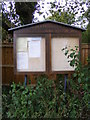 TM2153 : Clopton Parish Notice Board by Adrian Cable