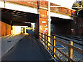 SJ8293 : Cycle path near St Werburghs Road Metrolink station, Chorlton by Phil Champion