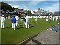 SY3391 : Sunday afternoon bowling, Lyme Regis by Chris Allen