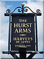 TQ5900 : The Hurst Arms sign by Oast House Archive