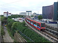 TQ4180 : DLR leaving Prince Regent by Malc McDonald