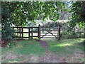 TM2234 : Gate on footpath by Roger Jones