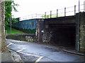 ST5971 : Railway bridge at Windmill Close by Thomas Nugent