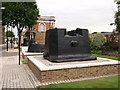 TQ4479 : Three Cannon mounts on Cadogan Road, Royal Arsenal by David Anstiss