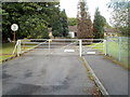 SN8413 : Entrance gates to Penycae Primary School by John Grayson