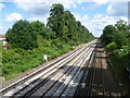 TQ4068 : Railway tracks between Bromley South and Bickley by Ian Yarham