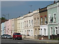 TQ2486 : Terraced houses on Cricklewood Lane, NW2 (2) by Mike Quinn