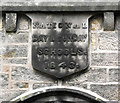 SJ8763 : St John's School- escutcheon by Jonathan Kington