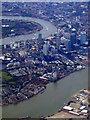 TQ3879 : Canary Wharf from the air by Thomas Nugent