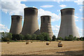 SK7885 : West Burton cooling towers by Richard Croft