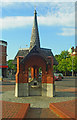TQ4088 : Drinking fountain, Wanstead by Julian Osley