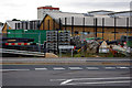 SP0483 : Compound near the Queen Elizabeth Roundabout, Selly Oak New Road scheme by Phil Champion