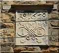 SP7866 : Datestone on a 17C house, Church Street, Moulton by Humphrey Bolton