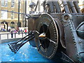 TQ3380 : Boat Sculpture inside Hay's Galleria by Colin Smith