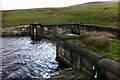 SD9231 : Spillway at Gorple Upper Reservoir by Phil Champion