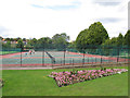 TQ2574 : Tennis courts in King George's Park by Stephen Craven