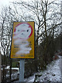 SD9926 : Defaced warning notice, Wood Top Road, Hebden Bridge by Phil Champion