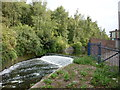 SJ8499 : A weir on the River Irk by Ian S