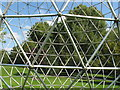 SU9850 : Triangle steel grid of sphere sculpture by David Hawgood