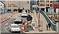 J3474 : Repairs, Queen Elizabeth Bridge, Belfast (2) by Albert Bridge