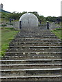 SZ0377 : Swanage: steps to the globe by Chris Downer