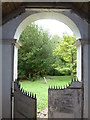SP8224 : Looking out from the porch at  St Martin's Dunton by Basher Eyre