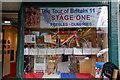 NT2540 : Window display, 2011 Tour of Britain Peebles : Week 37