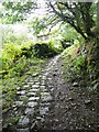 SE0126 : Cobbled track to Hanging Royd, Mytholmroyd by Humphrey Bolton