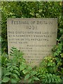 SE1615 : Festival of Britain memorial stone, Almondbury churchyard by Humphrey Bolton