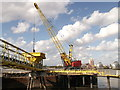 TQ4179 : Crane and pier, Riverside Wharf by David Anstiss