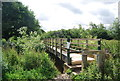 TQ5485 : Footbridge over the Ingrebourne by Nigel Chadwick