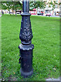 TQ3194 : Base of Lamp Post, Winchmore Hill Green, London N21 by Christine Matthews