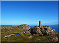 NG5739 : Dun Caan trigpoint by John Allan