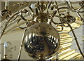 TQ3080 : Reflection in one of the chandeliers in St. Martin in the Fields church, London by pam fray
