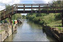 ST7665 : Folly Footbridge, Kennet & Avon Canal by Stephen McKay