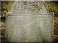 J5868 : Gravestone, Grey Abbey by Rossographer