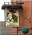 SJ9088 : Sign for the Dog & Partridge by Gerald England