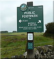 SK1568 : Footpath sign, Peak & Northern Footpaths Society by Andrew Hill