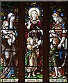 TQ2885 : St Martin, Vicars Road, Gospel Oak - Stained glass window by John Salmon
