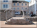 SX9372 : Steps between Marine Parade and promenade  by Robin Stott