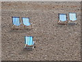 TQ3003 : Brighton: deckchairs on the beach by Chris Downer