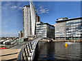 SJ8097 : Swing Bridge and BBC Buildings, Media CityUK by David Dixon