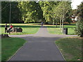 TQ3774 : Path junction in Ladywell Fields by David Anstiss